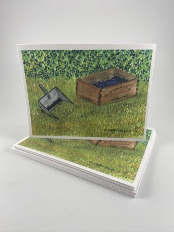 Blueberries with Rake card set