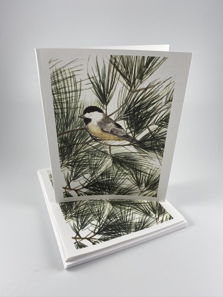 chickadee card set