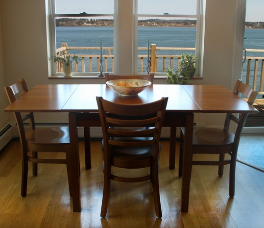 Dining table overlooking the bay