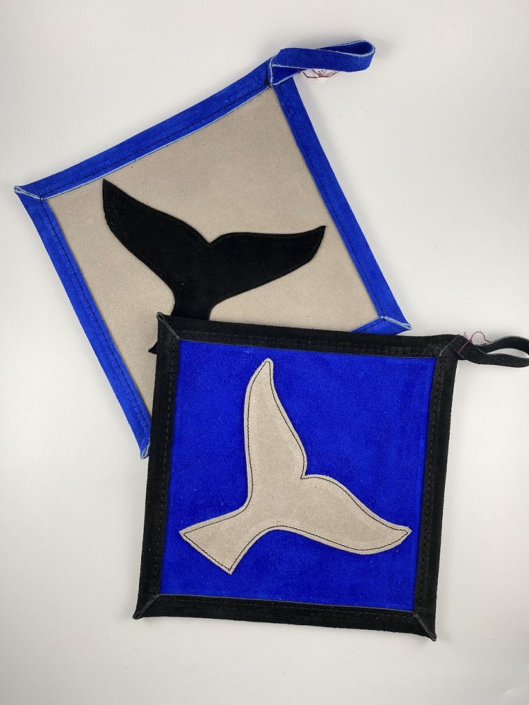 Whale Tail Suede Hot Pad