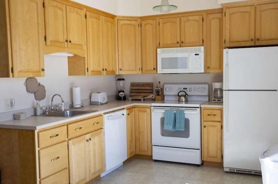 Kitchen in Water's Edge Rental Suite, Eastport, Maine